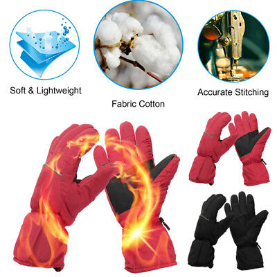 AU Winter Warm Rechargeable Electric Battery Heated Waterproof Warmer Gloves