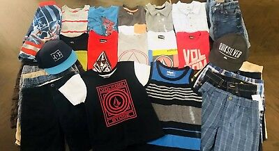 Boys size 5/6 Clothes lot of 28 Spring Summer Fall Outfits Volcom DC Old Navy