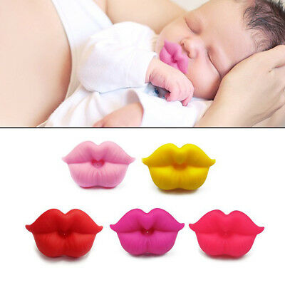 Funny Lips Dummy Dummies Pacifier Novelty Baby Child Soother Lips Joke
