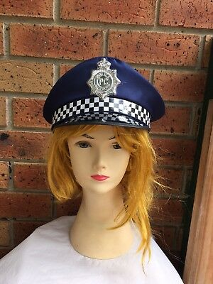 Blue Police Officer Cop Cap Hat Fancy Dress Theme Costume Stag Bucks Party