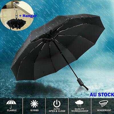Portable Automatic Travel Auto Open Close Compact Rain Folding Gentle Umbrella