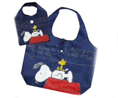 New Peanuts SNOOPY Tote Bag + Small Bag Shopping Bag Shoulder Bag Blue #3