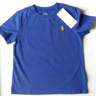 Bnwt Boys Ralph Lauren T Shirt  Age 18  Months Short Sleeve Royal  Blue