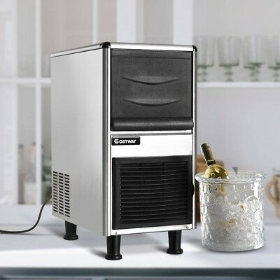 Freestanding Stainless Steel Commercial Ice Maker Machine Commercial Portable