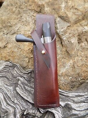 Rifle Bolt Pouch Holster Holder Belt Mounted Shooting hunting BROWN .22/17hmr