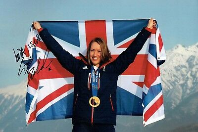 Elizabeth Lizzy YARNOLD Autograph Signed 12x8 Photo AFTAL COA 2018 Gold Winner
