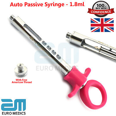 Dental Auto Passive Self Aspirating Anesthetic Syringe 1.8ml European Thread New