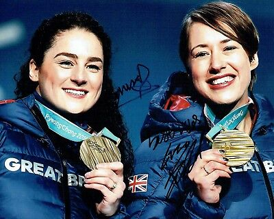Lizzy YARNOLD & Laura DEAS Autograph Signed Photo AFTAL COA 2018 Gold Winner