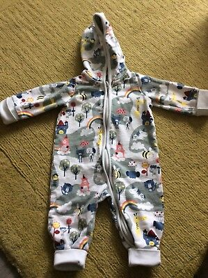 polarn o pyret 2-4 months baby girl zip-up all-in-one outfit pop