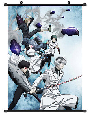 B5187 Tokyo Ghoul re anime manga Wall scroll Stoffposter 25x35cm