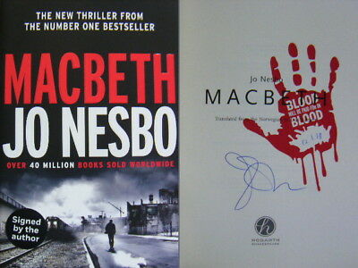 Signed Book & Dated - Macbeth by Jo Nesbo 1st First Edition Hardback