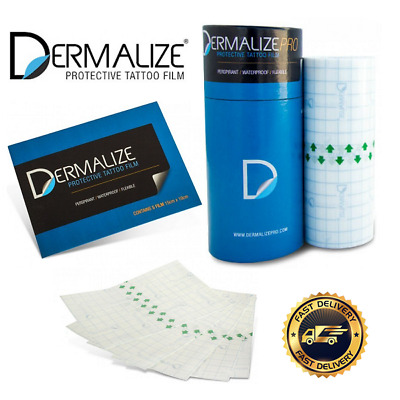 Dermalize Pro Tattoo Aftercare Roll Coverup Film - 5 x15cm sheet pack / 10m Roll
