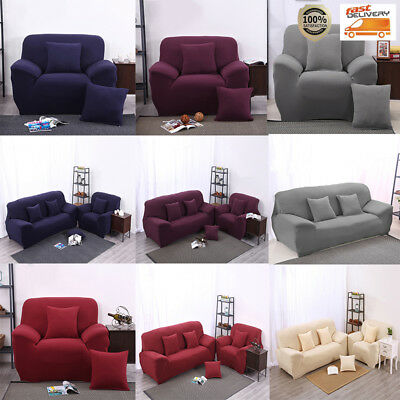 1-3er Sofahusse Sofabezug Sofabezüge Couchhusse Sesselhuss Polyester 5 Farbe DHL