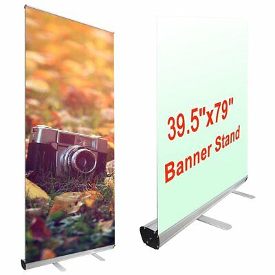 Yescom Aluminum Retractable Roll Up Trade Show Banner Stand for Signage Disp ...