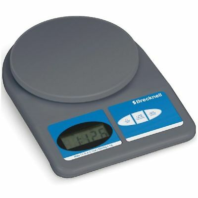 Brecknell Electronic Office Scale, 11lb/5000g Capacity, 0.1oz/1g Readability
