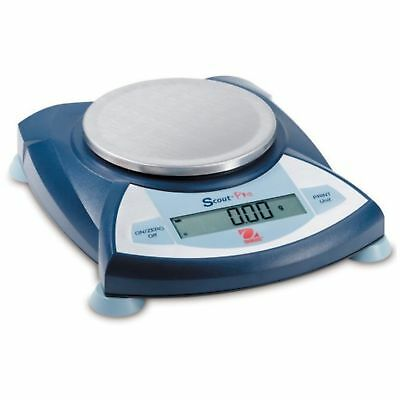 Ohaus Scout Pro Portable Electronic Balance, 2000g Capacity, 0.1g Readability