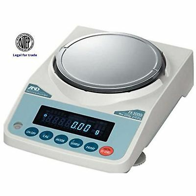 A&D Fx-2000in Fx-Series Precision Lab Balance, Compact Scale 2200 G X 0.01 G ...