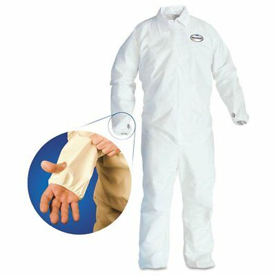 KleenGuard* KleenGuard A40 Breathable Back Coverall with Thumb Hole, White/B ...
