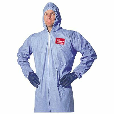 Dupont Tempro Elastic-Cuff Hooded Coveralls, Blue, XXX-Large, 25/Carton -DUP ...