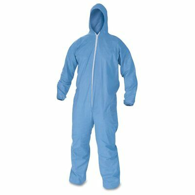 KleenGuard* KleenGuard A60 Elastic-Cuff & Back Hooded Coveralls, Blue, Large ...