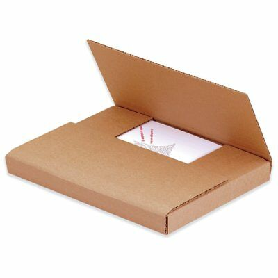 Box Partners Easy-Fold Mailers,9 5/8x6 5/8x1.25,Kraft,50/BDL - BXP M961K