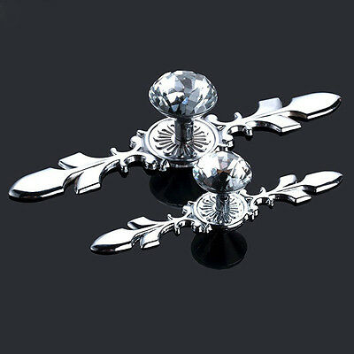 Crystal Glass Diamond Door Knobs Drawer Wardrobe Pull Handle Cabinet Knob Pulls