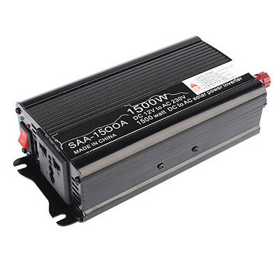 Convertisseur 1500W DC 12V à AC 220V pur sinus Onduleur Inverter Voiture Power