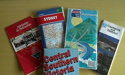 Vintage RACV ,BP, Ampol, Road Maps of Australia 1970s free post Australia wide