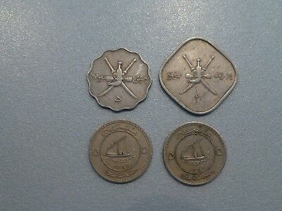 Muscat And Oman Lot Of 4 Coins Included 20 Baisa 1365