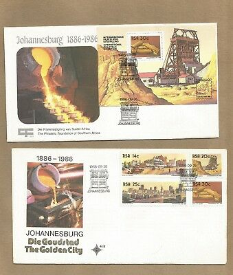 S Africa: 'City of Gold' FDC  + Comm Cover + set 4 FDP'cards (Ref 701)