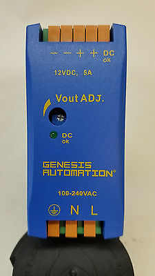 Genesis Automation Gda60-12  12 Vdc Power Supply / Din Rail Mount