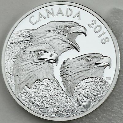 2018 $15 Magnificent Bald Eagles 1 oz. 99.99% Pure Silver Proof Coin