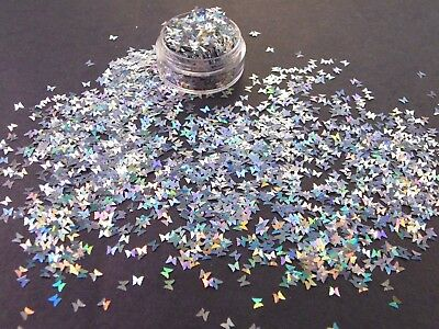 Butterfly Glitter Chunky Festival  Cosmetic Gold Silver Purple Blue Green White