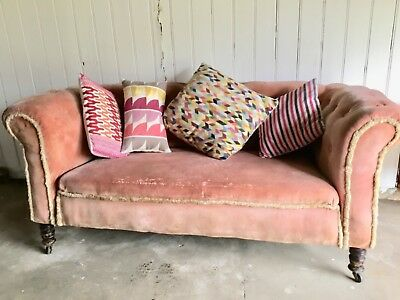 Antique Chesterfield Sofa Victorian circa Mid 1800's