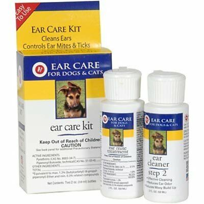 R7 Clean Ear Mite Care Kit for Pet Dogs & Cats - Ear Mites & Ticks