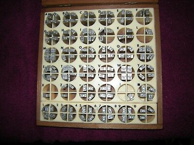 KINGSLEY STAMPING MACHINE Type Set Font Stymie Light Lower Case 24 pt & Numbers
