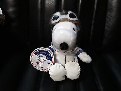 HALLMARK PEANUTS SNOOPY ASTRONAUT PLUSH DOG CELEBRATE NASA 50th ANNIVERSARY TAGS