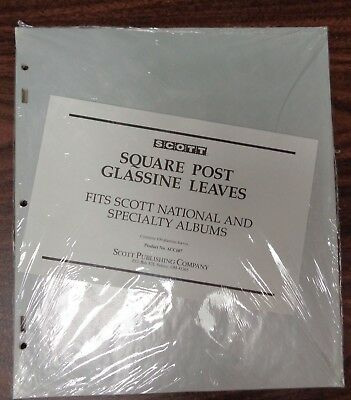 Scott National Specialty 100 Glassine pages square 2 post & 3  ACC107 collection