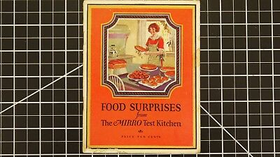Cookbook Food Surprises from the Mirro Test Kitchen Illustrated Price 10 Cents