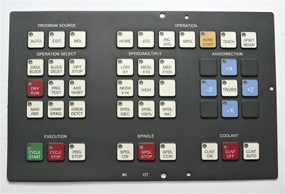 Operator Keypad FANUC 0T, A98L-0001-0524#K Replacement