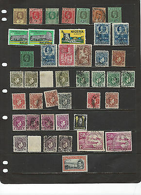 Nigeria--Older Collection-Many Better-Nice Cancels