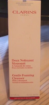 New in box Clarins Gentle Foaming Cleanser with cottonseed.125ml.
