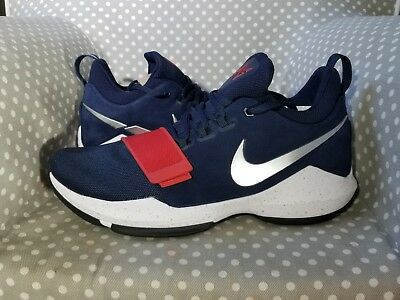 New Nike PG 1 Paul George USA Red White Blue Basketball Shoes 878627-900 SZ