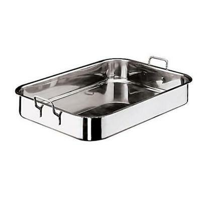 World Cuisine - 11943-45 - 11 7/8 in x 17 3/4 in Stainless Steel Roasting Pan