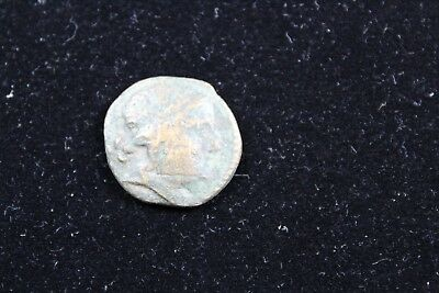 """Ancient """"about 25 B.C.""""  coin   lot H 687"""