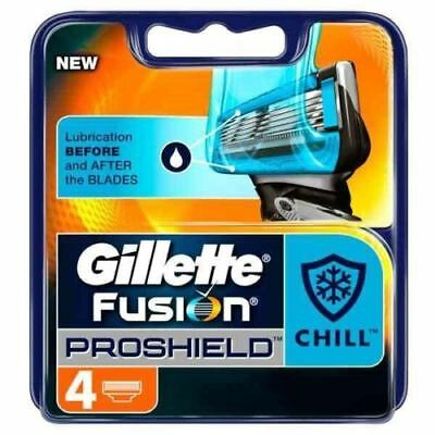 4 x Gillette Fusion ProShield Chill Men's Replacement Cooling Tech Razor Blades
