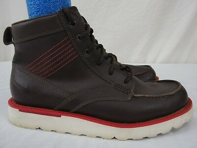 5117591540a NIKE ACG MENS 9 Brown Leather Hiking Boots HARDLY WORN! -  44.99 ...