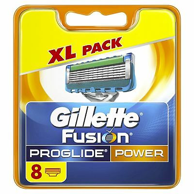 """GILLETTE """"Fusion PROGLIDE"""" POWER ... REPLACEMENT BLADES. 1 X 8 PACK"""