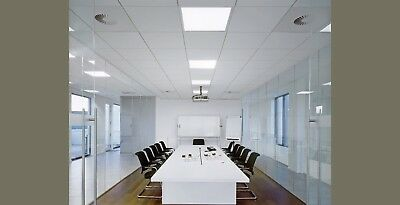 Suspended Ceiling Tiles 8x White 595x595mm Square Edge 600x600