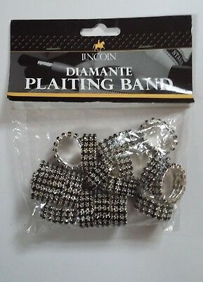 New LINCOLN DIAMANTE PLAITING BANDS - showing-bling-black 20 (free UK post)